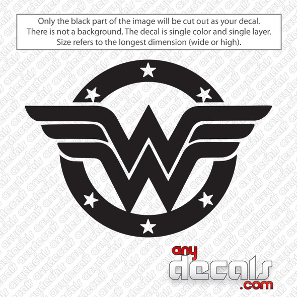 Wonder Woman Shield Logo Decal Sticker