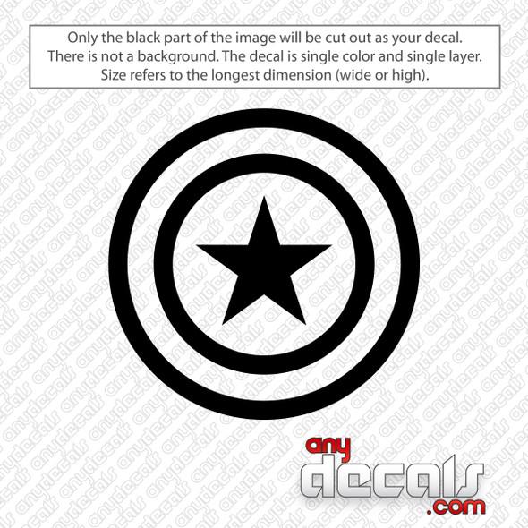 Captain America Shield Decal Sticker