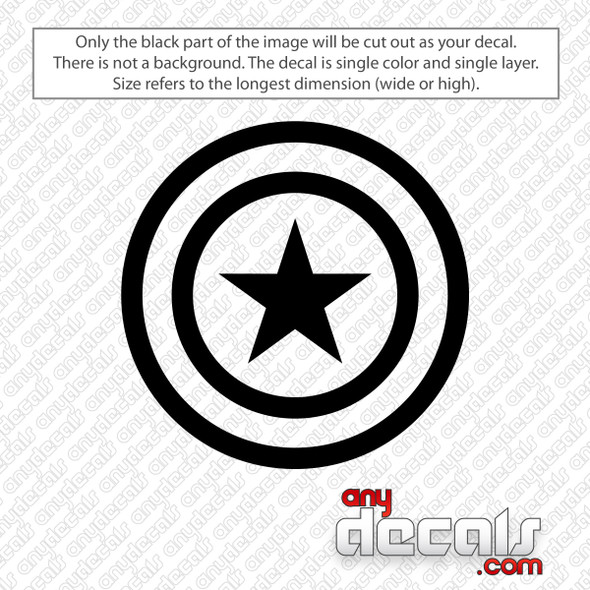Captain America Shield Decal Sticker