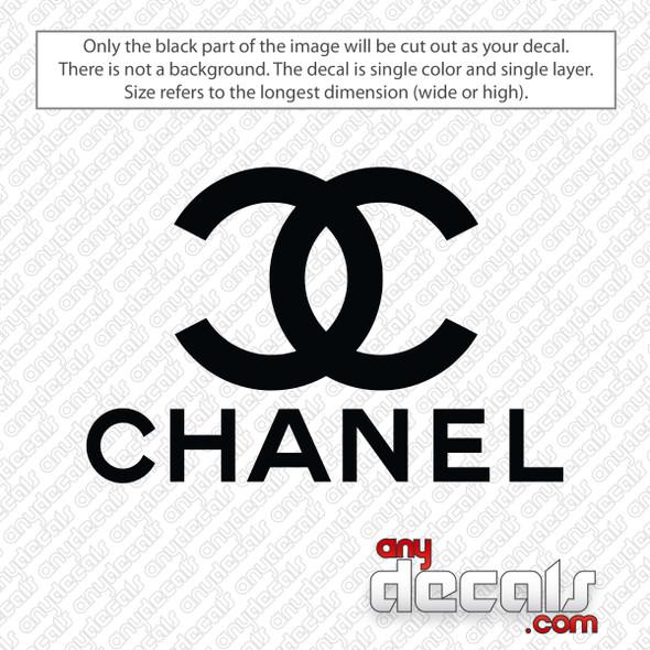 Chanel Logo Decal Sticker