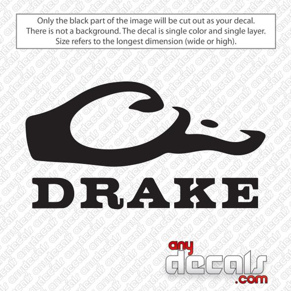 Drake Waterfowl Logo Decal Sticker