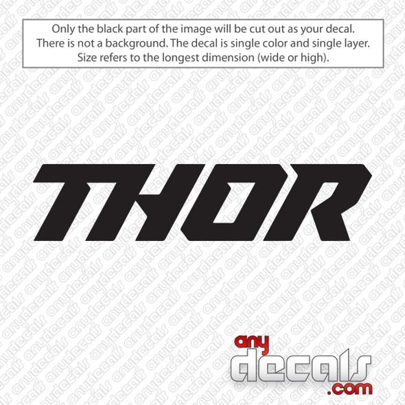 Thor Logo Text Decal Sticker