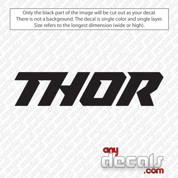 Thor Logo Text Decal Sticker