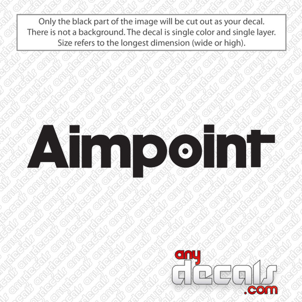 Aimpoint Logo Decal Sticker