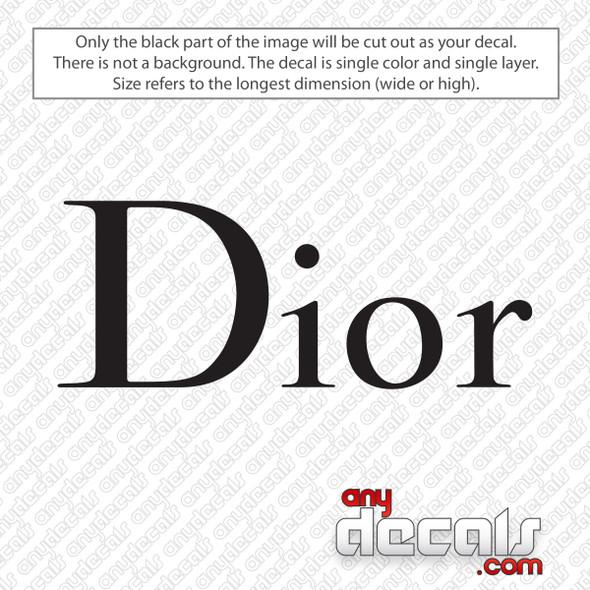 Dior Logo Decal Sticker