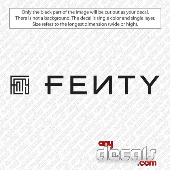 Fenty Logo Decal Sticker