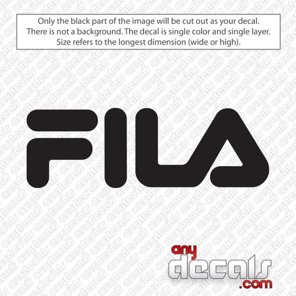 Fila Logo Decal Sticker