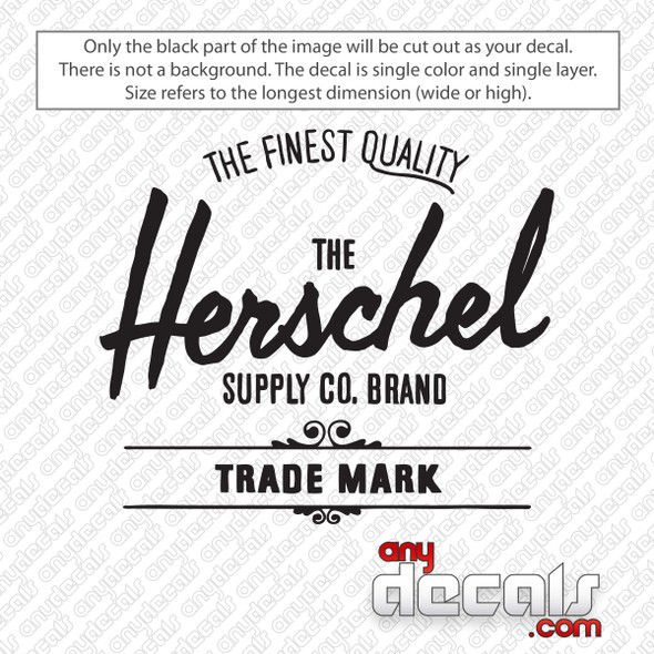 Herschel Supply Co Logo Decal Sticker