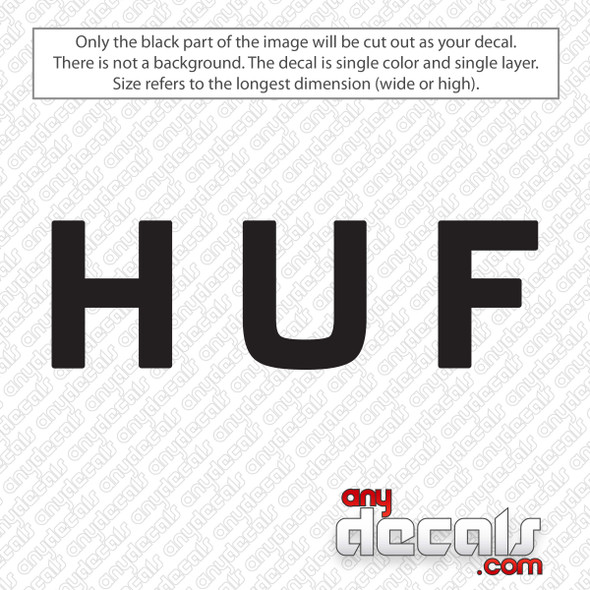 HUF Logo Decal Sticker