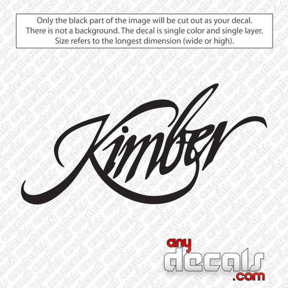 Kimber Logo Decal Sticker
