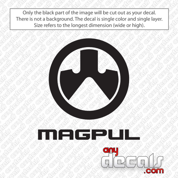 Magpul Logo Stacked Decal Sticker