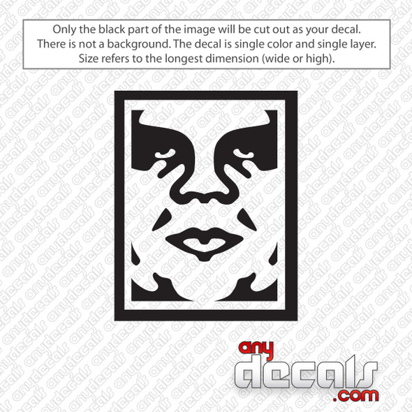 Obey Face Icon Decal Sticker