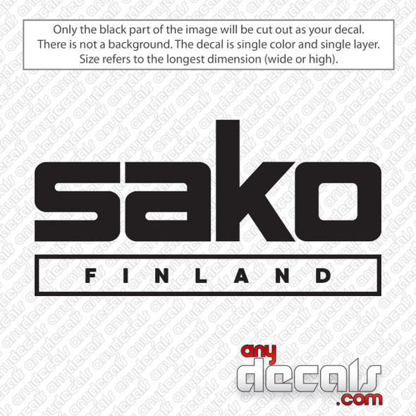 Sako Finland Logo Decal Sticker
