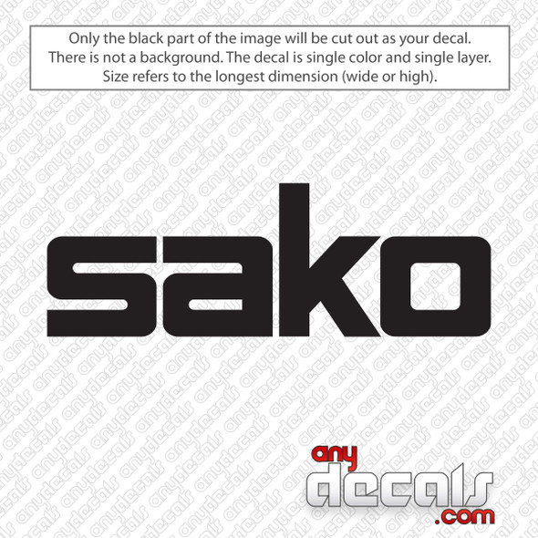 Sako Logo Decal Sticker