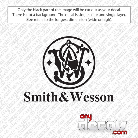 Smith & Wesson Logo Stacked Decal Sticker