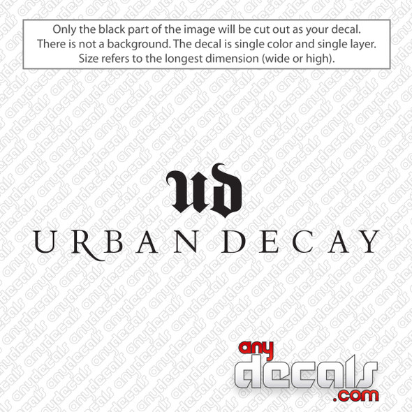 Urban Decay Emblem Logo Decal Sticker