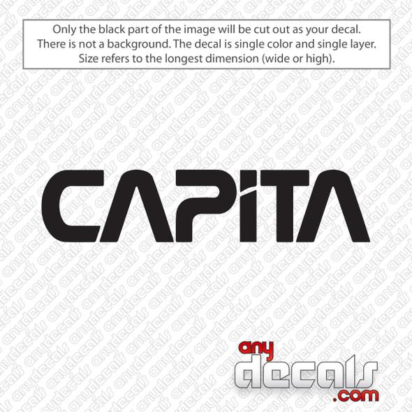 Capita Snowboarding Logo Decal Sticker