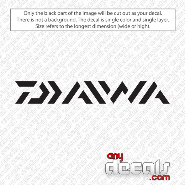 Daiwa Fishing Logo Decal Sticker