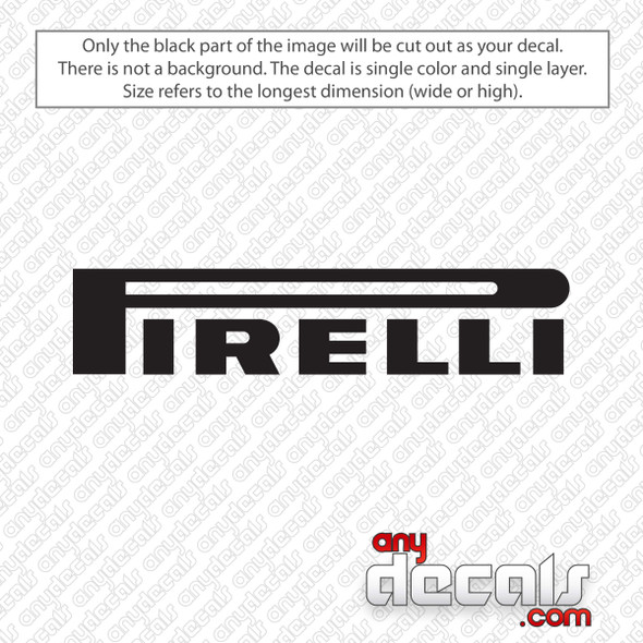 Pirelli Logo Decal Sticker