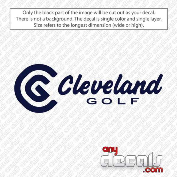 Cleveland Golf Logo Decal Sticker