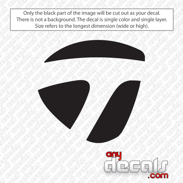 TaylorMade Icon Golf Decal Sticker