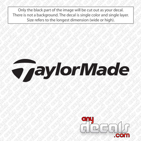 TaylorMade Logo Golf Decal Sticker