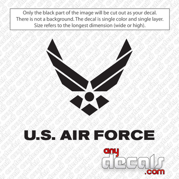 U.S. Air Force Logo Decal Sticker