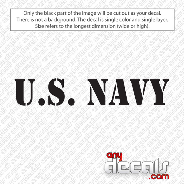 U.S. Navy Text Decal Sticker