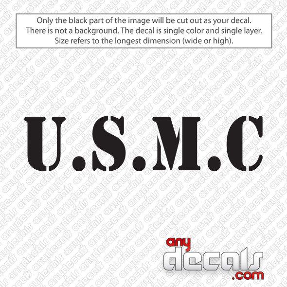 U.S.M.C Marines Text Decal Sticker