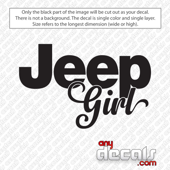 Jeep Girl Decal Sticker