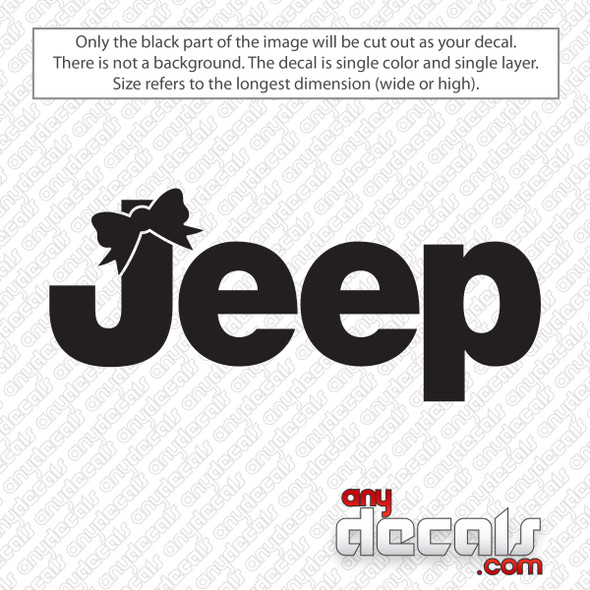 Jeep Logo With Bow Decal Sticker