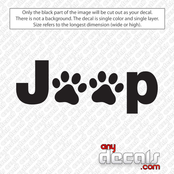 Jeep Paw Print Decal Sticker
