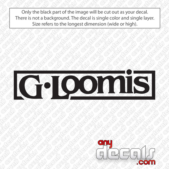G-Loomis Logo Decal Sticker