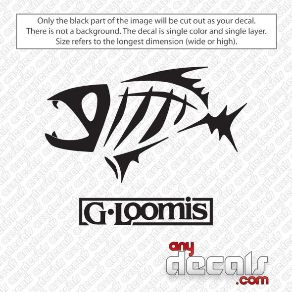 G-Loomis Logo Fishing Decal Sticker