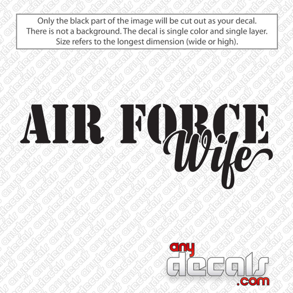 Air Force Wife Decal Sticker