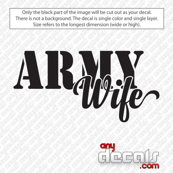 Army Wife Decal Sticker