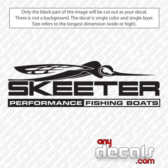 Skeeter Performance Fishing Boats Logo Decal Sticker