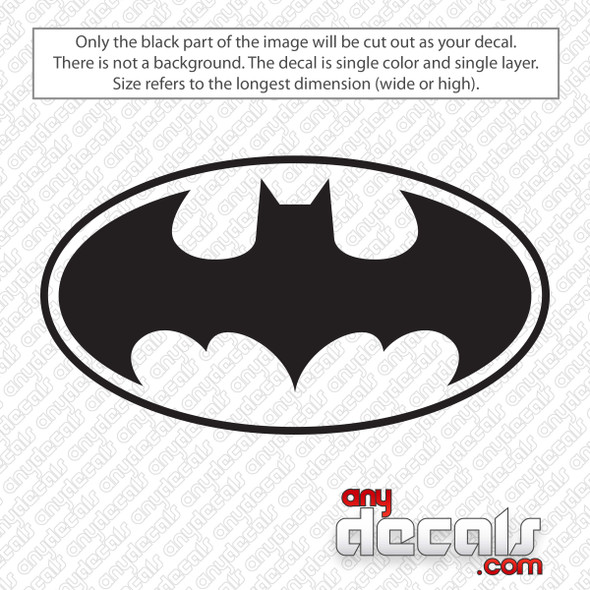 Batman Logo Decal Sticker