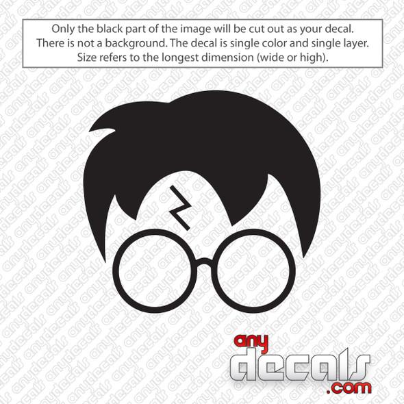 Harry Potter Scar Glasses Decal Sticker