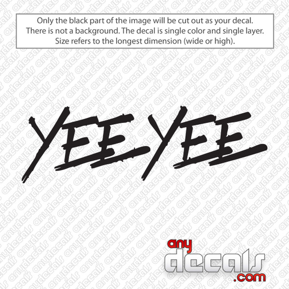 Yee Yee Logo Decal Sticker