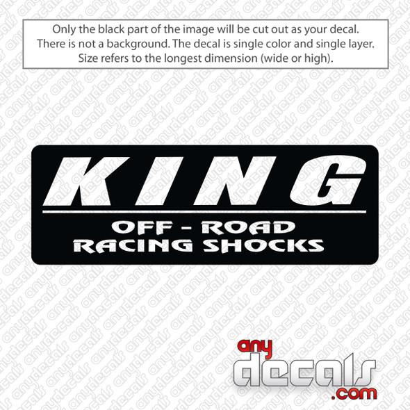 King Off Road Shocks Decal Sticker