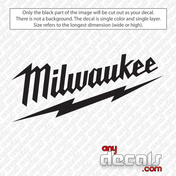 Milwaukee Tools Logo Decal Sticker