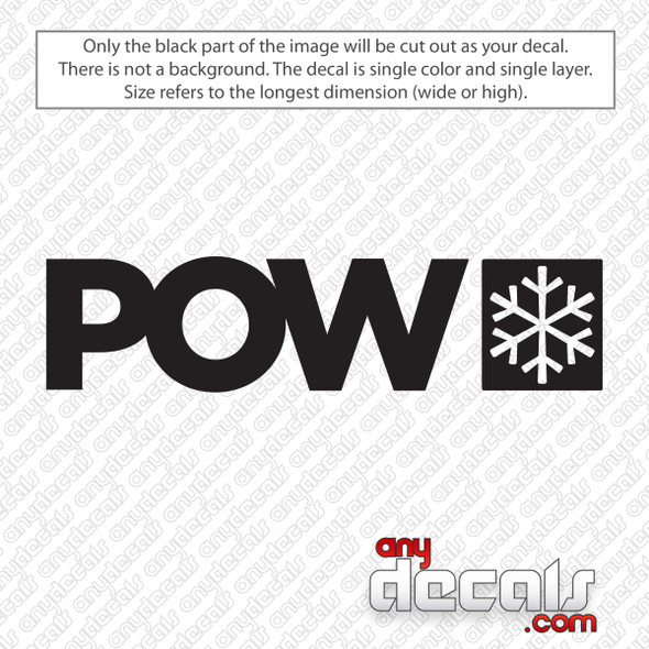 Protect Our Winters POW Decal Sticker