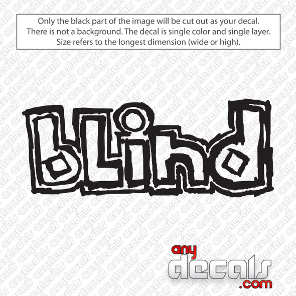 Blind Skateboards Logo Decal Sticker