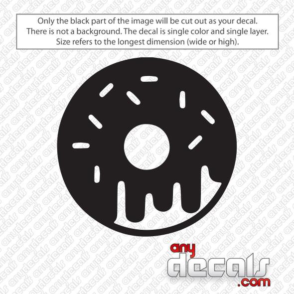 Dripping Donut Decal Sticker