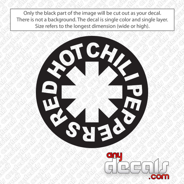 Red Hot Chili Peppers Band Logo Decal Sticker