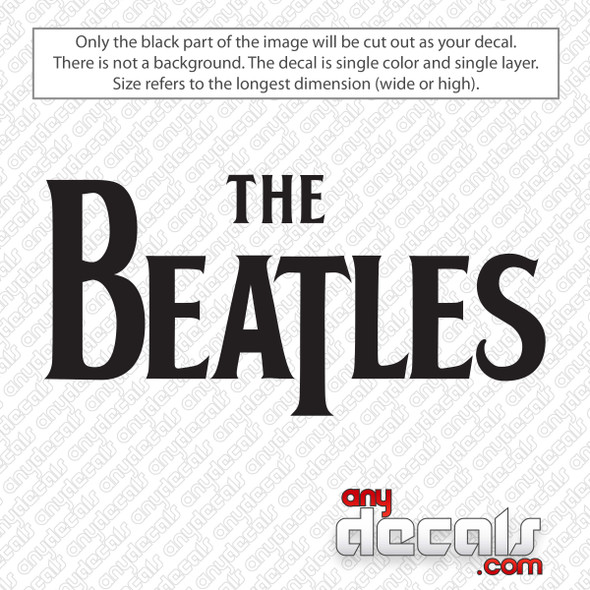 The Beatles Band Logo Decal Sticker