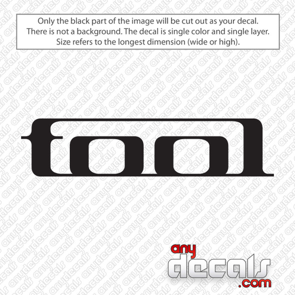 Tool Band Logo Decal Sticker