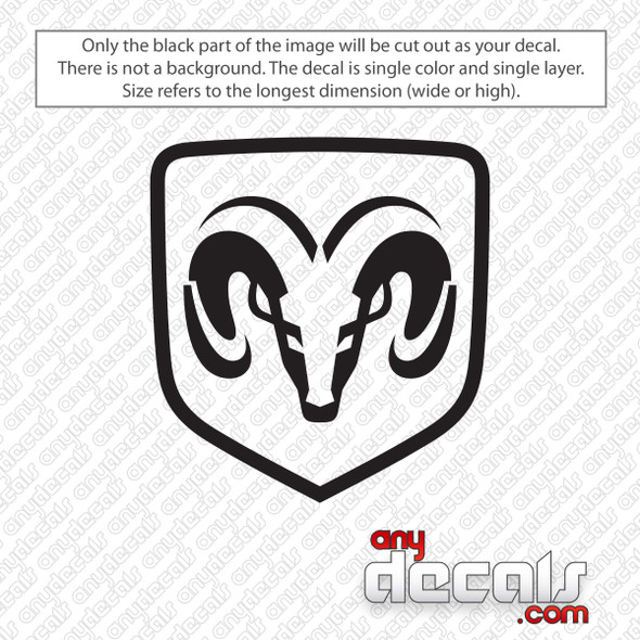 Dodge Ram Logo Decal Sticker