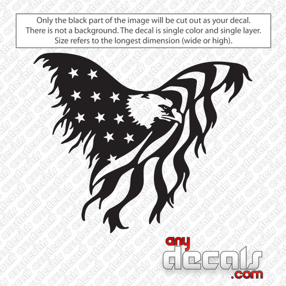 Eagle American Flag Decal Sticker